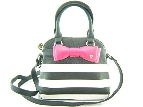 Betsey Johnson Mini Dome Handbag Satchel Black Multi