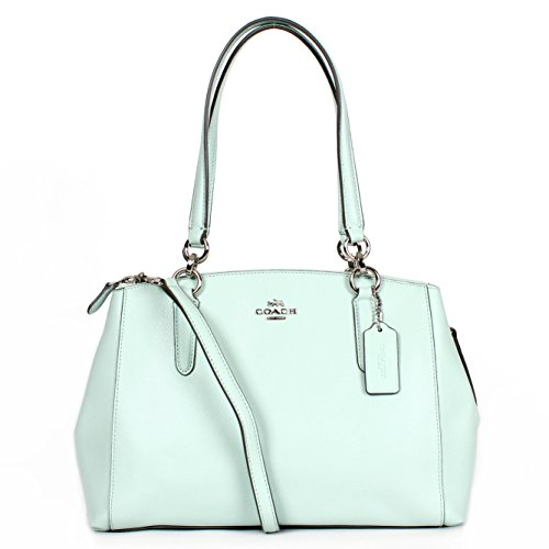 Coach F36637 Medium Christie Carryall crossgrain Leather Satchel in Seaglass