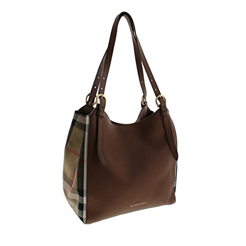 Burberry Womens Canterbury Leather House Check Tote Handbag