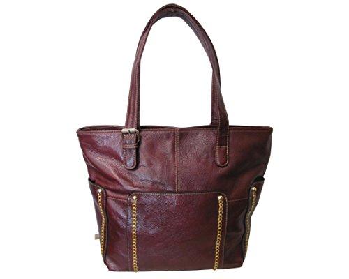 Amerileather Madelinne Handbag – Burgundy