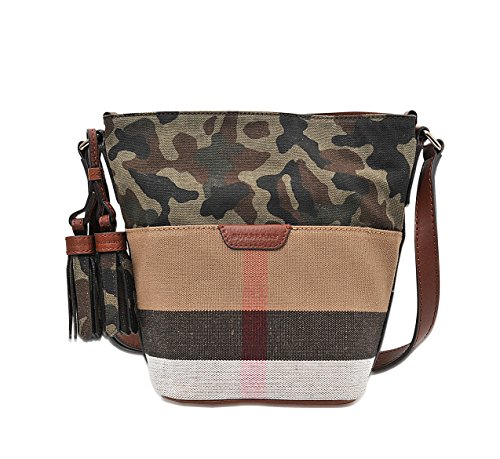 Burberry Canvas Check Camo Camouflage Mini Susanna Crossbody