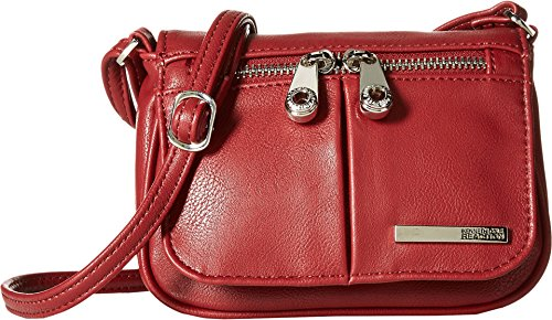 Kenneth Cole Reaction Women's Wooster Street Small Flap Crossbody Red Cross Body