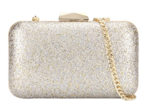 Grace Angel Women's Sparkling Hard Case Evening Handbag Cocktail Clutch Purse Ga14294 Gold