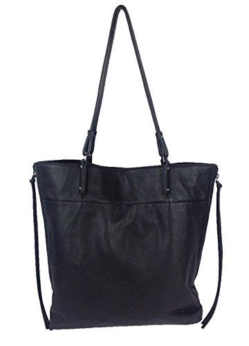 Kooba Tonya Leather Bucket Tote, Black