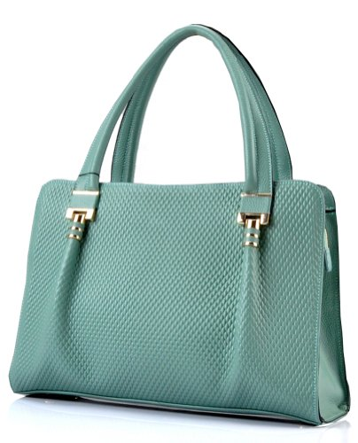 Ilishop Women's LightSteelBlue 2014 Brand Hot New Artistic Fashion Geniune Leather Handbag Shoulder Bag