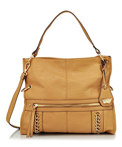 Jessica Simpson Cindy Foldover Convertible Cross Body Bag, Latte, One Size