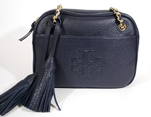 Tory Burch Thea Navy Blue Leather Crossbody Chain