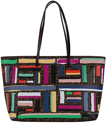 Fendi Chalks Print Roll Tote Bag