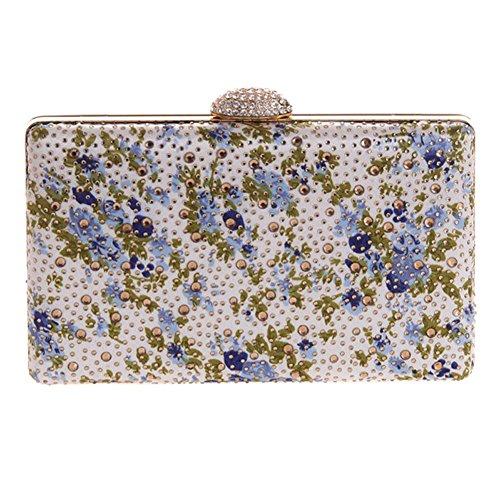 Mlotus Womens Beads Applique With Crystal Clasp Evening Bag Clutch Handbag Purse