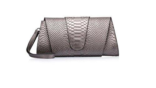 GAMT Snake Print Fashion Clutch Bags Leather Handbag