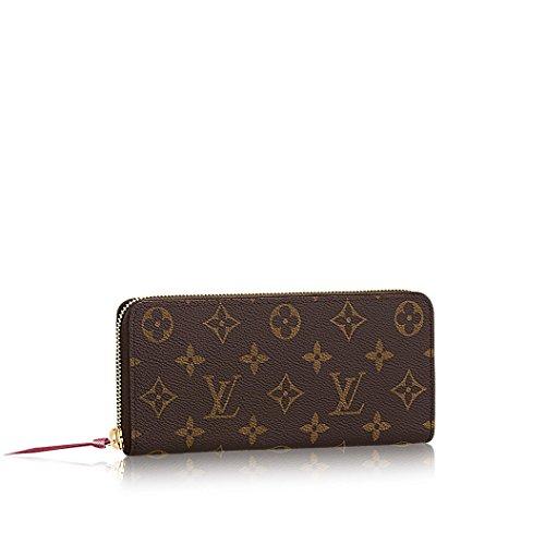 Louis Vuitton Monogram Canvas Fuchsia Clemence Wallet M60742