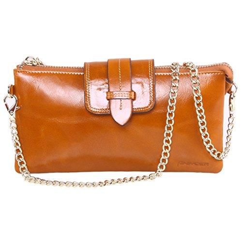 AINIMOER Women's Large Capacity Purse Genuine Leather Wristlet Wallet Phone Clutch