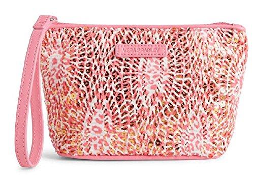 Gorgeous Vera Bradley Mesh Sequin Wristlet/Wallet in Camocat Pink