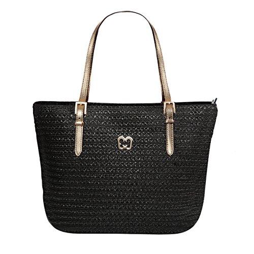 Eric Javits Women's Squishee Jav Handbag One Size (Black Pewter)
