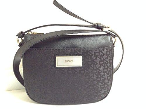 DKNY Purse HERITAGE with Saffiano PVC Crossbody Black Bag Crossbody