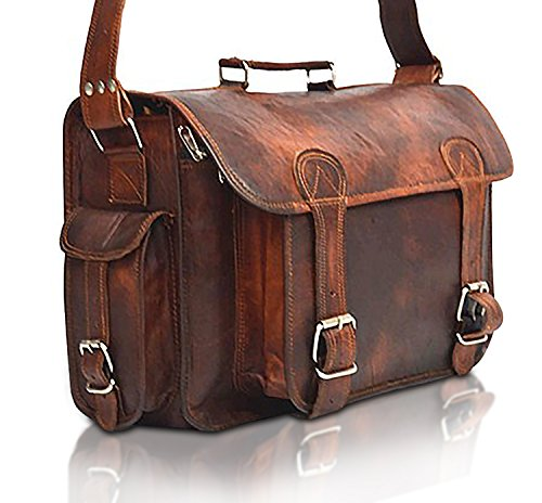 16″ leather camera bag,vintage DSLR messenger briefcase shoulder satchel laptop bag