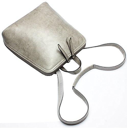 Heshe® Women's New Fashion Leather Backpack Shoulder Handbag Sling Single Bag Purse Crossbody for Ladies
