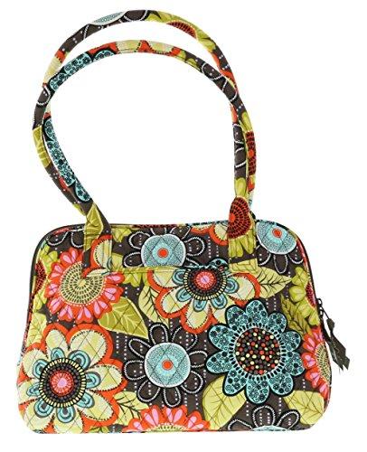 Vera Bradley Zip-Around Handbag Purse in Flower Shower