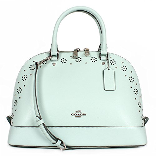 Coach Sierra Satchel Border Stud Satchel F37238 in Seaglass/SV