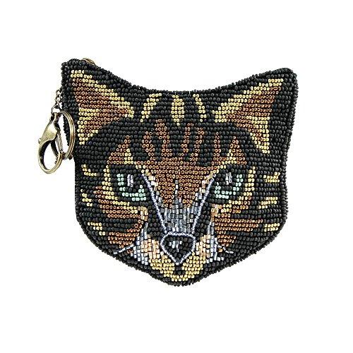 Mary Frances Here Kitty Kitty Novelty Beaded Zipper Coin Purse