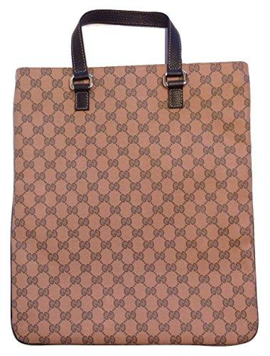 Gucci GG Guccissima Rose Canvas Leather Tote 272347