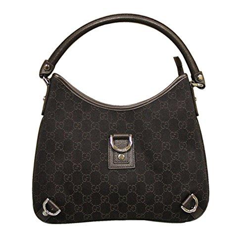 Gucci Brown Denim Abbey Hobo Bag Leather Handbag 268637