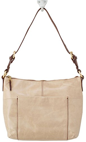 Hobo Handbags Vintage Leather Charlie Shoulder Bag – Pumice