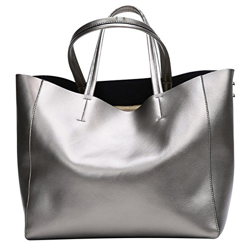 S ZONE Fashion Women Soft Leather Top-handle Tote Shoulder Bag