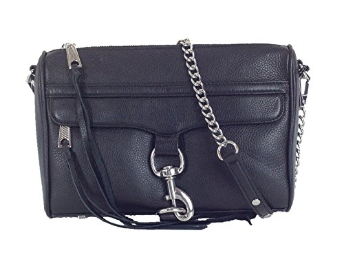 Rebecca Minkoff MAC Leather Clutch Crossbody Bag, Black