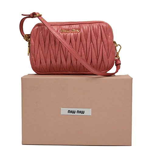 Miu Miu by Prada Borch Cellulare Bubble Gum Pink Leather Wristlet Pouch Bag 5ZH010