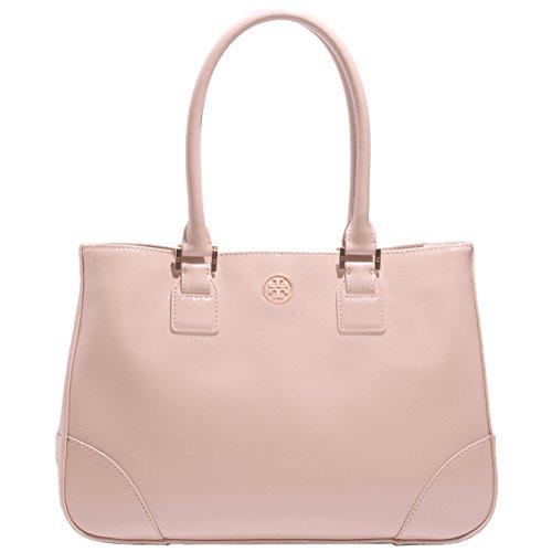 Tory Burch Robinson Leather Handbag Bag Dark Sahara