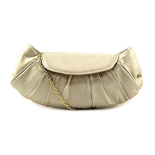La Regale Shiny Rounded Bottom Pouch Evening Bag