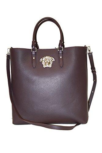 Versace Handbag Plum (Dark Purple) Leather with Long Strap