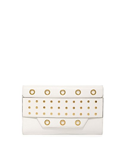 Milly Kent Clutch White Leather