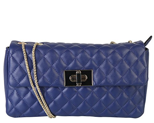 Rimen & Co. Quilted Flap Cross Body Shoulder Purse Womens Evening Handbag Accented Metal Chain Strap XH-2687 XH-2688 AB-007