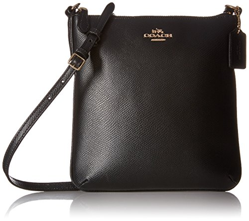 COACH Crossgrain Leather North South Crossbody Shoulder Bag