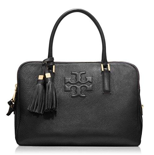 Tory Burch Thea Triple-Zip Satchel Bag, Black