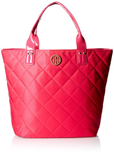Tommy Hilfiger Quilted Shopper With Pouch Shoulder Bag, Pink, One Size
