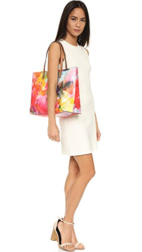 Tory Burch Kerrington Square Tote Pink multi Flower Floral Bag