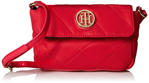 Tommy Hilfiger Quilted Mini Flap Xbody Cross Body Bag, Red, One Size