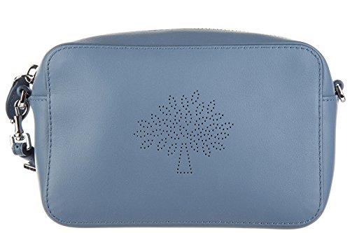 Mulberry women's leather clutch handbag purse with shoulder strap original blossom blu