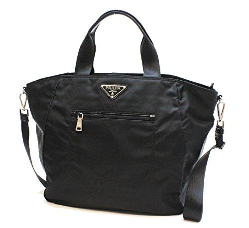 PRADA Black Nylon and Leather Tote bag shoulder bag handbag BR4376 PRADA NERO (black) nylon