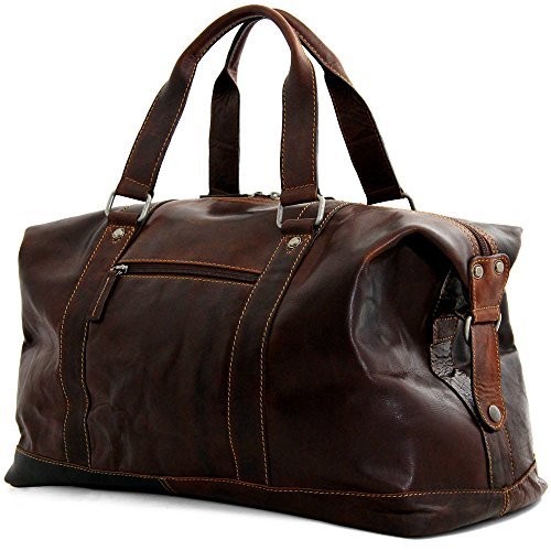 Jack Georges Voyager Collection 18″ Leather Duffle Bag – Brown