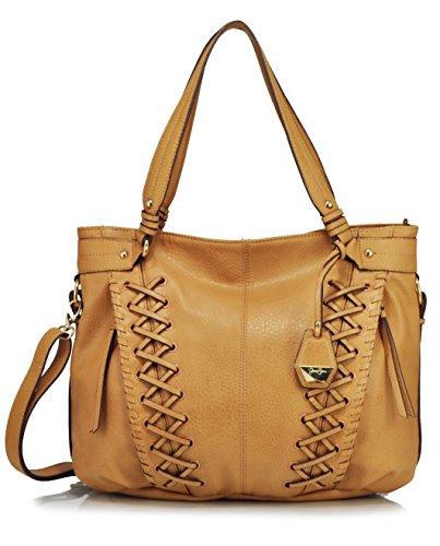 Jessica Simpson Tyson Whipstitch Tote Shoulder Bag, Latte