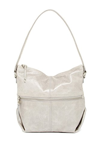 HOBO Maren Leather Small Hobo Shoulder Bag, Cloud