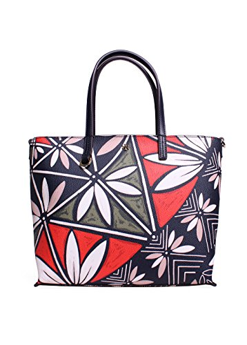 Tory Burch Kerringtone Small Tote in Tory/Navy Pottery