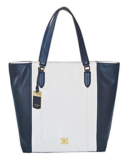LAUREN Ralph Lauren Robertson NS Tote Bag Handbag Purse Ivory Black