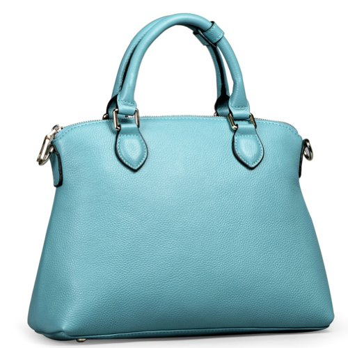 Ilishop Women's Turquoise Genuine Leather Tote Handbag