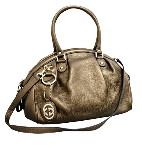 Gucci Brown Leather Sukey Tote Bag Shoulder Strap Handbag