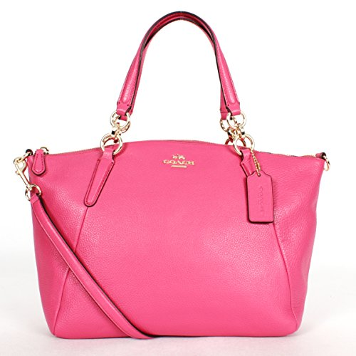 Coach F36675 Small Kelsey Satchel in Pebble Leather Dahlia